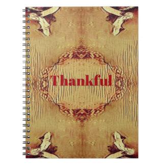 Seasonal Fall 'Thankful' Design Tote Spiral Notebook