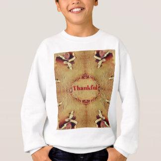 Seasonal Fall 'Thankful' Design Tote Sweatshirt