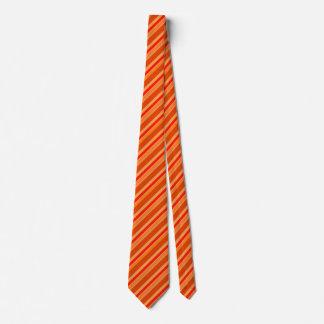 Seasonal Orange Stripes on Men's Neck Tie