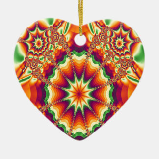 Seasonal Shades Ceramic Heart Decoration