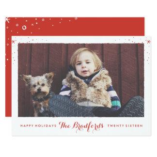 Seasonal Sparkle Holiday Photo Card