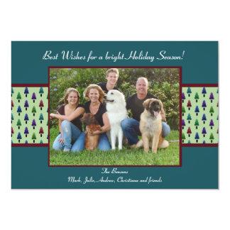 Seasonal Wishes - Holiday Photo Card 13 Cm X 18 Cm Invitation Card