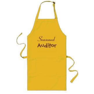 Seasoned Auditor Retirement Gift Idea - Joke Name Long Apron