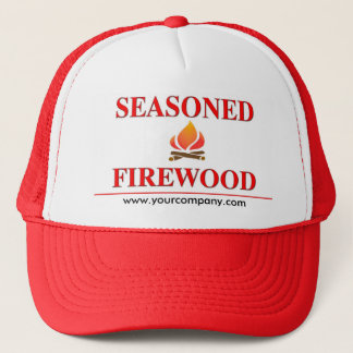 Seasoned Firewood Hat, www.yourcompany.com Trucker Hat