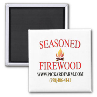 Seasoned Firewood Magnet