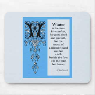 Seasoned Initials Winter Mouse Pads