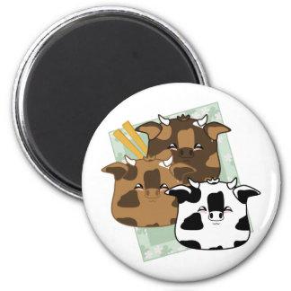 Seasoned Moo Moo Dumplings Platter Magnets