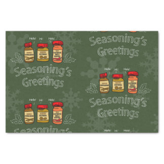 Seasoning's Greetings Funny Holiday Pun Tissue Paper