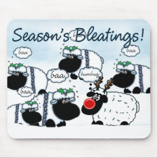 Season's Bleatings Christmas Fun Mousepad