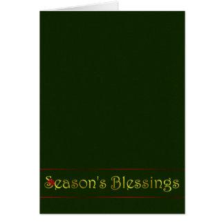 Season's Blessings Card