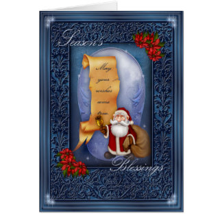 Seasons Blessings Greeting Card