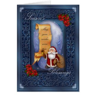 Seasons Blessings Greeting Card