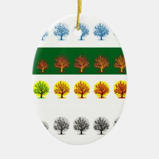 seasons ceramic oval decoration