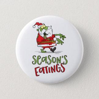 Season's Eatings - Zombie Santa 6 Cm Round Badge