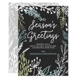 Season's Flourishes Business Holiday Greeting Card