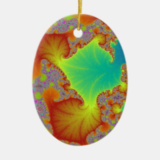 """Seasons"" Fractal Art! Ceramic Oval Decoration"