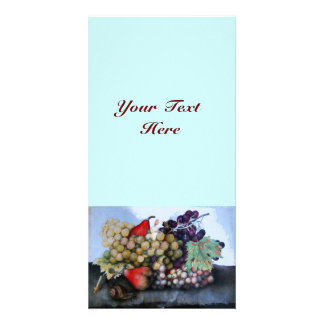 SEASON'S FRUITS 1 - GRAPES AND PEARS PICTURE CARD