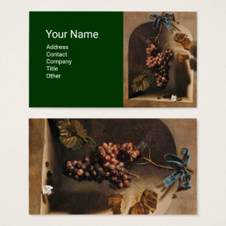 SEASON'S FRUITS HANGED GRAPES Rustic Green Brown Business Card