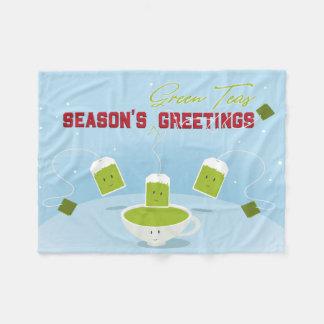 Season's Green Teas | Fleece Blanket
