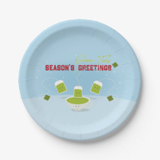 Season's Green Teas | Paper Plate