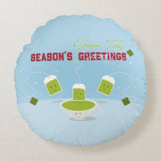Season's Green Teas | Round Pillow