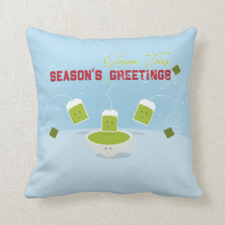 Season's Green Teas | Throw Pillow