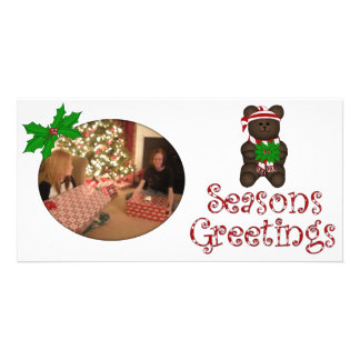Seasons Greeting Bear Photo Card
