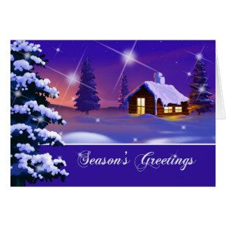 Season's Greeting. Customizable Christmas Card