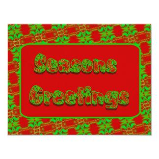 Seasons Greetings 11 Cm X 14 Cm Invitation Card