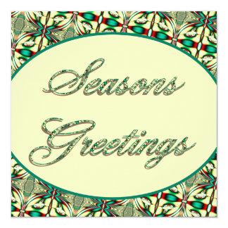 Seasons Greetings 13 Cm X 13 Cm Square Invitation Card
