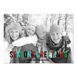 Season's Greetings 13 Cm X 18 Cm Invitation Card