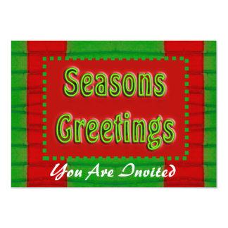 Seasons Greetings 13 Cm X 18 Cm Invitation Card
