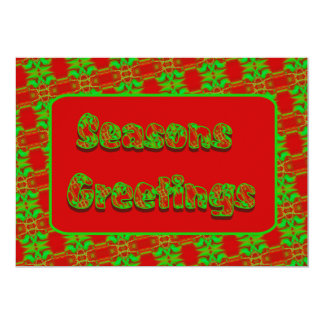 Seasons Greetings 13 Cm X 18 Cm Invitation Card