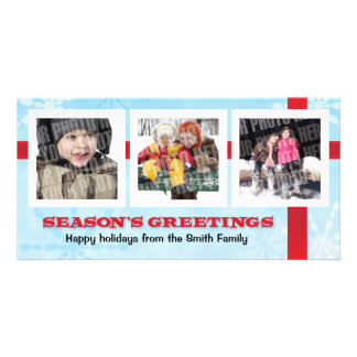 Season's Greetings 3 photo Picture Card