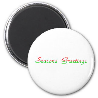 Seasons Greetings 6 Cm Round Magnet