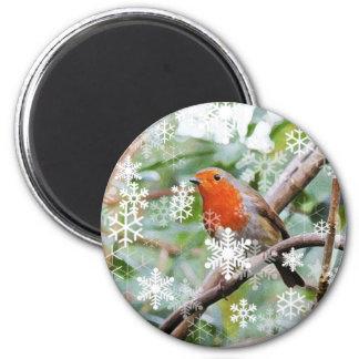Season's Greetings! 6 Cm Round Magnet