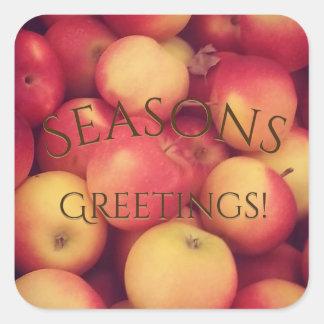 Seasons Greetings! | Apple Sticker