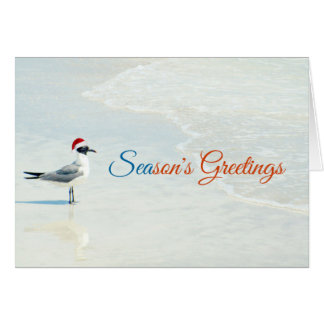Season's Greetings Beach Christmas Card