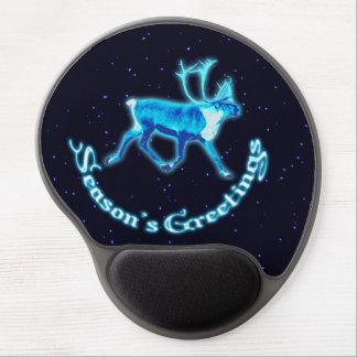Season's Greetings - Blue Caribou (Reindeer) Gel Mouse Mat
