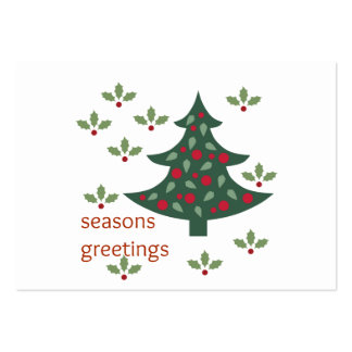 Seasons Greetings Pack Of Chubby Business Cards