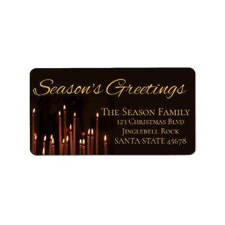 Season's Greetings Candles Christmas label