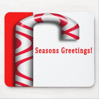 Seasons Greetings Candy Cane Mousepad