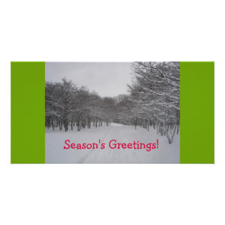 Season's Greetings card Personalized Photo Card