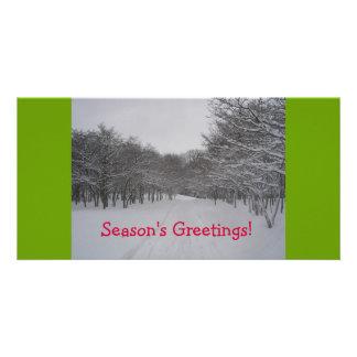 Season's Greetings card Personalized Photo Card