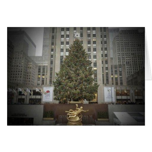 Season's Greetings Card - Rockefeller Center Tree