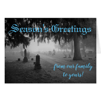 Season's Greetings Cemetery Card