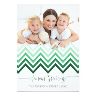 Seasons Greetings chevron Christmas Card 13 Cm X 18 Cm Invitation Card