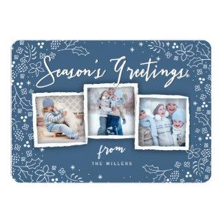 Season's Greetings Christmas Holiday Greeting Card