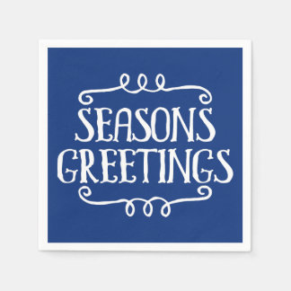 Seasons Greetings Christmas Holiday Napkin Disposable Serviette