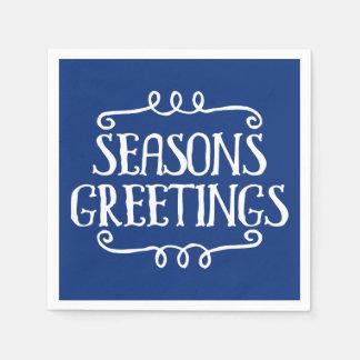 Seasons Greetings Christmas Holiday Napkin Paper Napkin